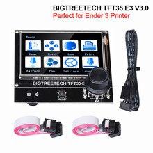 Bigtreetech tft35 e3 v3.0 tela de toque 12864 display lcd btt tft35 3d peças da impressora para ender3 atualização cr10 skr mini e3 placa