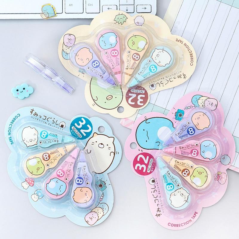 4 pcs/pack Kawaii Sumikko Gurashi White Out Corrector Correction Tape Promotional Gift Stationery Sc