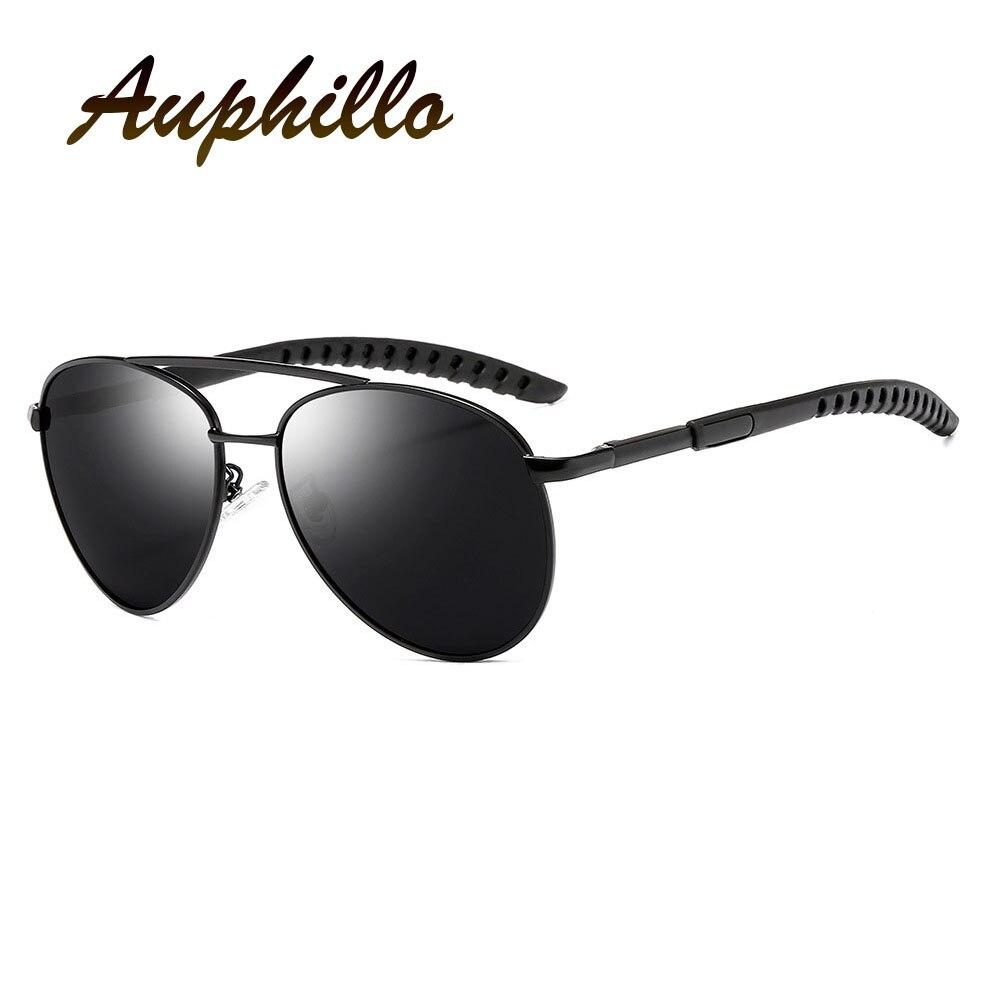 AUPHILLO Classic Pilot Oversized Sunglasses Brand Designer Men Polarized Driver Driving Sun glasses For Men gafas de sol hombre in Men 39 s Sunglasses from Apparel Accessories