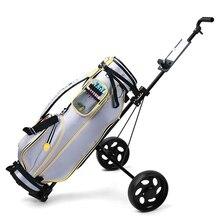 Golf-Bag Trolley Cart Golf-Supplies Lightweight Folding Adjustable Professional Outdoor-Sports