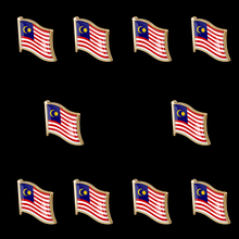 10PCS Pride Pin Malaysia Flag Waving Lapel Pin Brooch Decoration for Clothes/ Bags