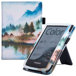 Smart Case for Pocketbook Touch HD 3/Touch Lux 4/Touch Lux 5/Basic Lux 2/Pocketbook Color e-Readers - with Stand/Hand Strap