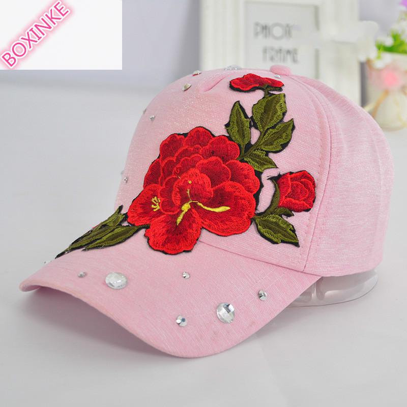 2019 New Real Gorras Women Pokemon Go Dad Hat Neymar Embroidered Rose Duck Tongue Cap Lady's Decorated Baseball Summer Sunshade 5