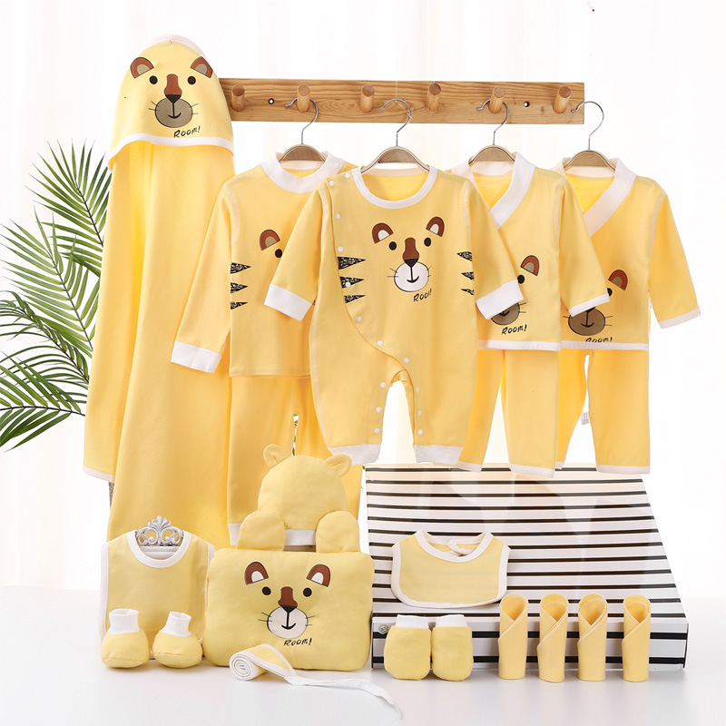 0-3M Newborn Baby Unisex Clothes Animal Print Shirt And Pants 18/21pcs Boys Girls Cotton Soft Long Sleeve Rompers Outfits Sets