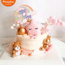 Cute Resin Star Crown Cake Topper Birthday Cakes Happy Birthday Cake Topper Party Supplies Kawaii Cake Decoration Baby Shower цена 2017