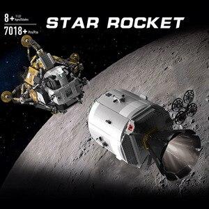 Image 2 - כוכב צעצועי מלחמת תואם עם MOC 26457 אפולו חללית בניין בלוקים לבני צעצועי הרכבה דגם ערכות ילדים חג המולד מתנות
