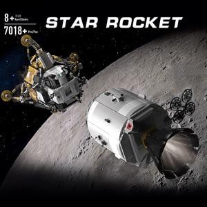 Image 2 - ของเล่นStar Warsใช้งานร่วมกับMOC 26457 Apollo Spacecraft Building Blocksอิฐประกอบของเล่นชุดเด็กคริสต์มาสของขวัญ