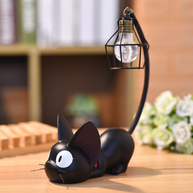 Creative Cartoon Cat Animal Table Light Morden Black Bedroom Beside Lamps Home Decor Night Lamp Resin Light Fixtures Table Lamp