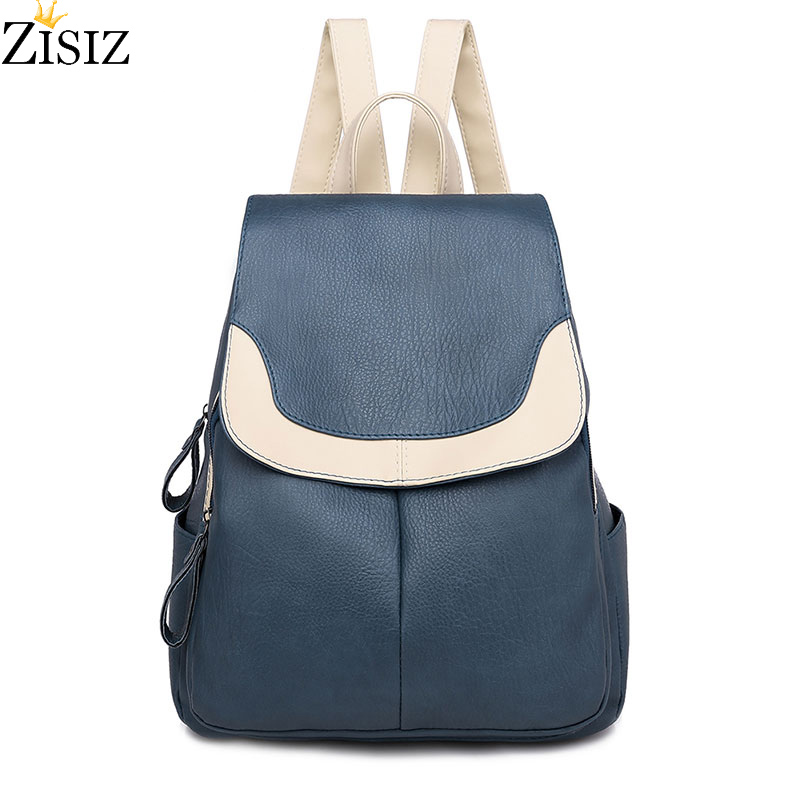 Brand Women's backpack female Leather 2019 new multifunctional casual fashion ladies small backpack travel bag ladies backpack