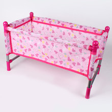 1Set Reborn Doll Bed Baby Peuter Wieg Baby Pop Bed Speelhuis Speelgoed Accs(China)