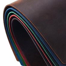 Color genuine leather natural cowhide crazy horse leather real fur skin paint for wallet knife case sheath shoes bags(China)