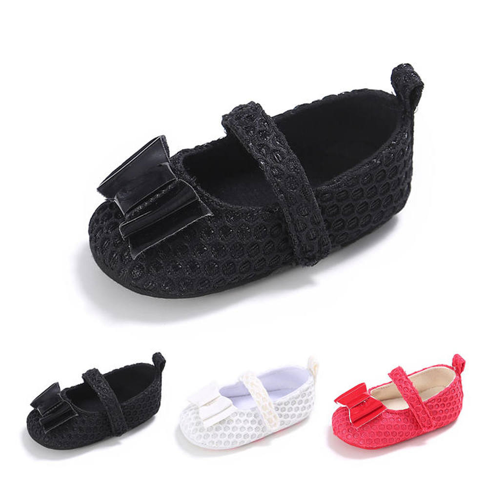 Newborn Baby Girl Shoes Soft Sole Cotton Butterfly-knot Solid Light Infant Prewalker Princess Lovely Baby Crib Toddler Shoes