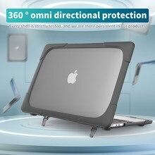Caso do portátil para macbook air 13 2020 a1932 a2179 a2337 luva à prova de choque portátil para pro 13 2020 superfície caso do portátil suporte capa