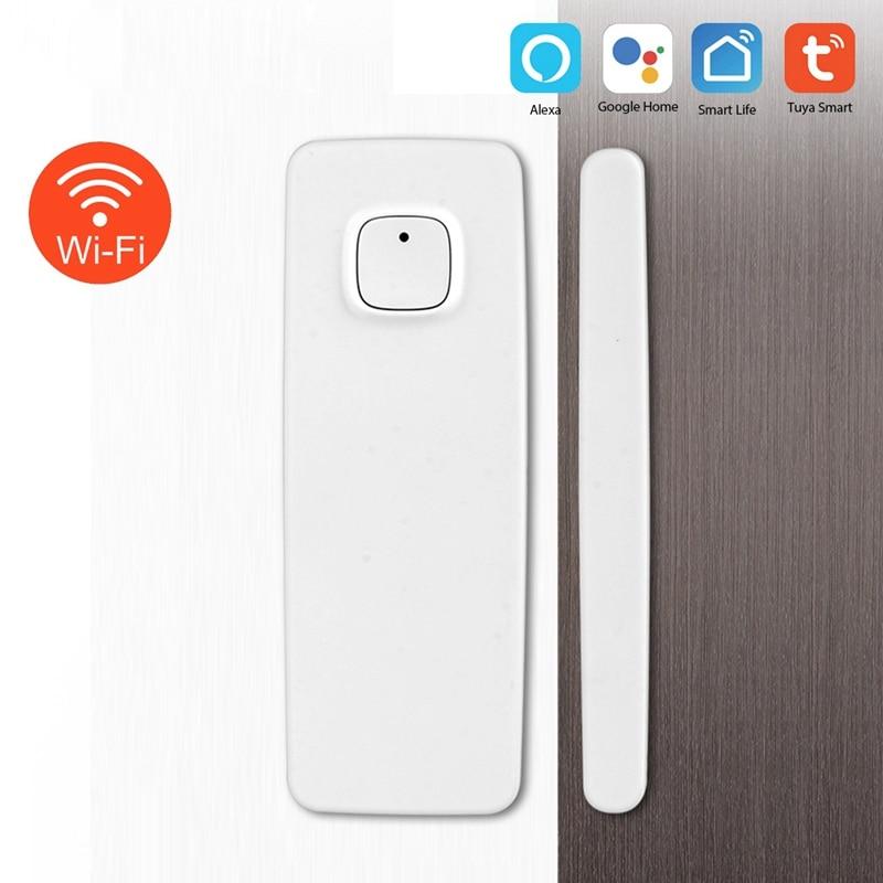 Magnetic Sensor Wireless Door Window Alarm System For Home Security Wifi Door Open Switch Detector With Alexa Echo Google Home
