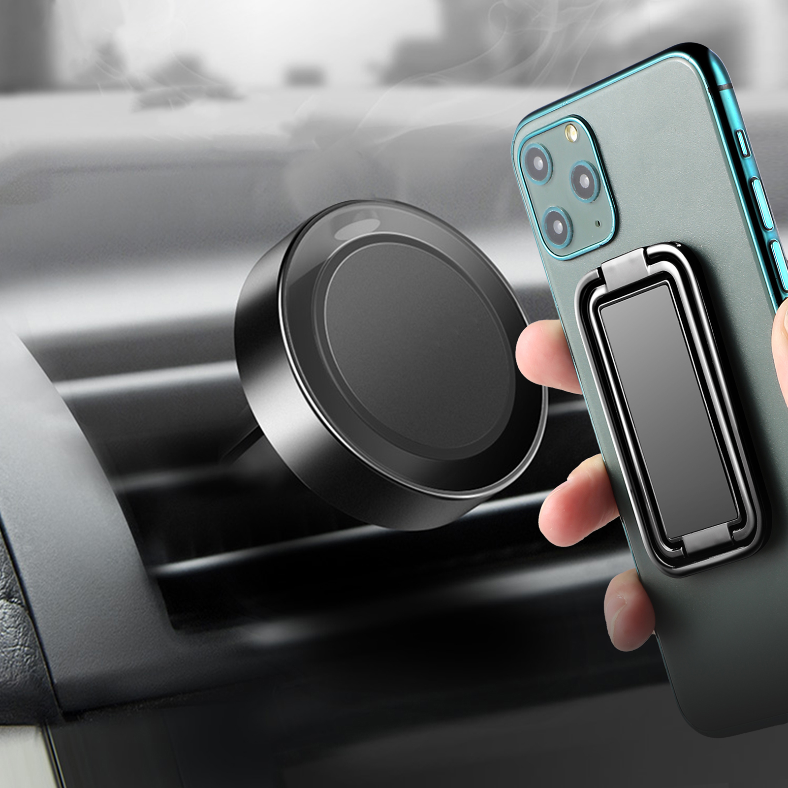 Retractable Magnetic Phone Ring Holder