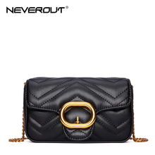 NEVEROUT Girls Mini Bags Women Quilted Style Solid Ladies Shoulder Sac Bags Split Leather Crossbody Cellphone Purse Small Bag