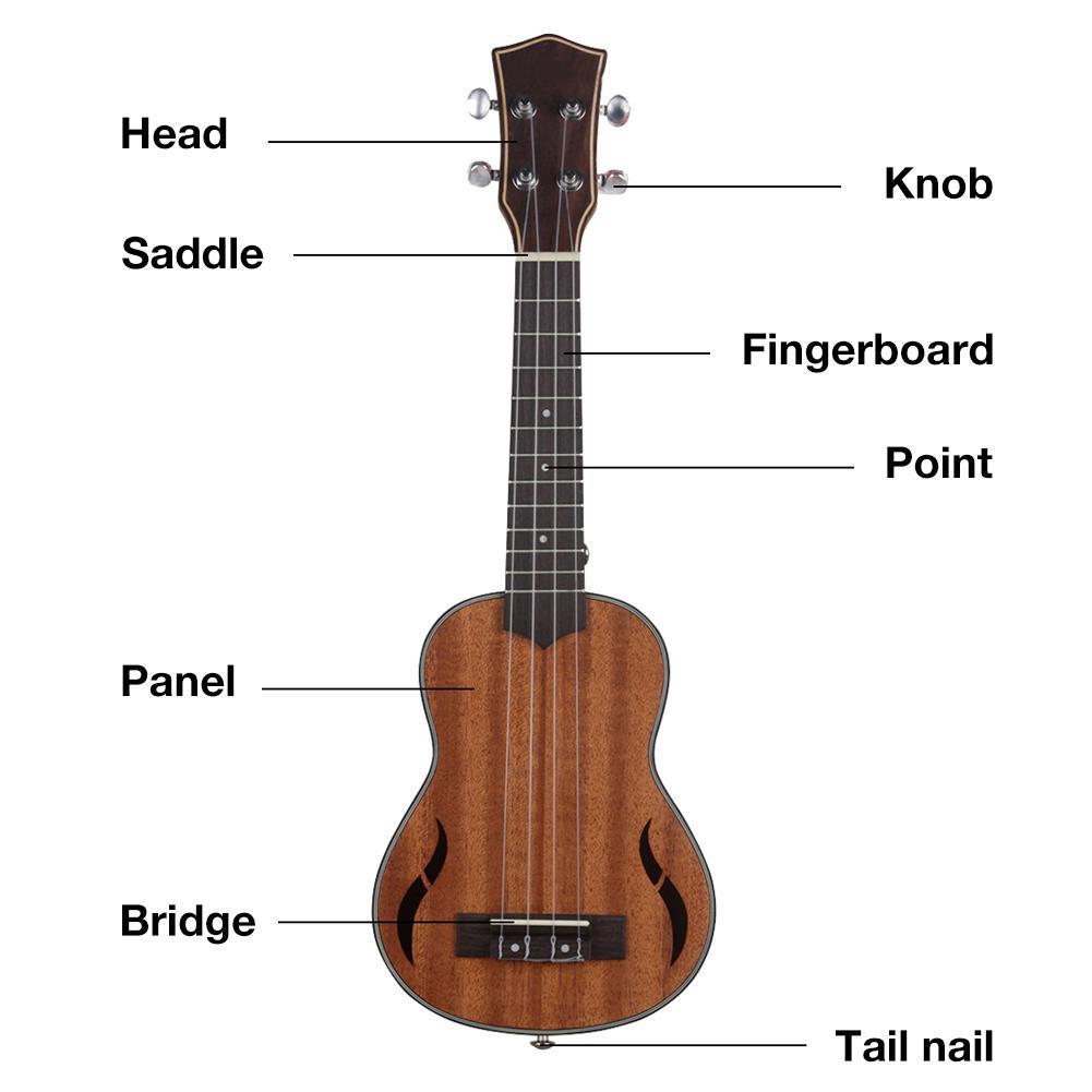 21 pouces 4 cordes acajou ukulélé hawaïen petite guitare 4 cordes hawaïenne guitare Instruments de musique - 4