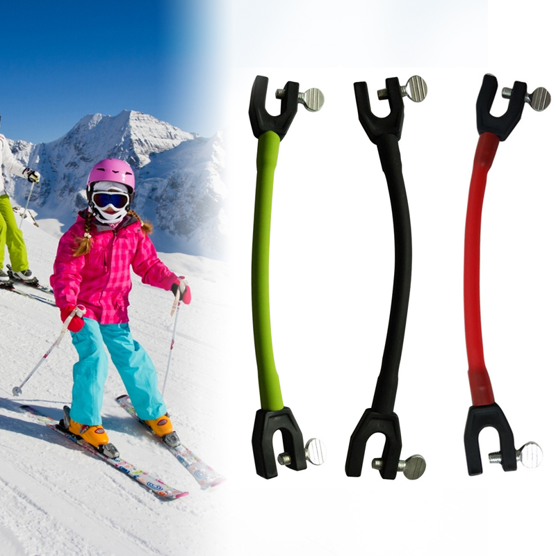Ski Tip Connector Safe Outdoor Elastic Clip Winter Kids Protection Latex Sports Training Compact Easy Wedge Removable Beginner