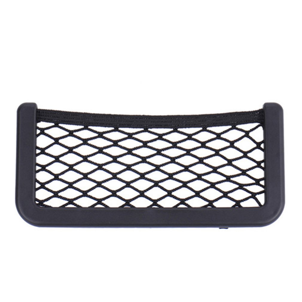 Small Car Seat Side Back Storage Net Bag String Bag Mesh Pocket Organizer Stick on for Wallet Phone|Stowing Tidying| |  -