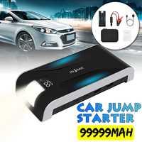 INSMA 99999mAh 4Ports Car Jump Starter Cars Battery Jumper 12V 3.0 Fast Charger USB Type C Emergency Power Bank SOS LED Flashlig