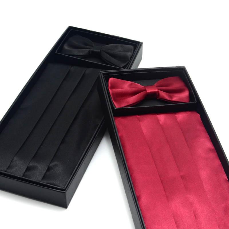 Men's Belt 3-piece Bowknot Bridegroom Best Man Wedding Dress Waist Seal  Party Gentleman Clothing Accessories Large Sizes