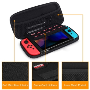 Image 4 - Portable Travel Protective Carrying Case With 10 Game Card Slots And Inner Pocket for Nintendo Switch Console Joy Con