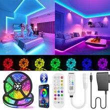 Bluetooth LED Strip Light SMD 5050 RGB led ribbon Flexible Waterproof LED Light 5M 10M Tape Diode DC 12V Power + Controller