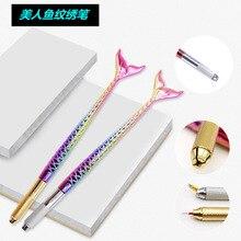 Высококачественная Серебристая/Золотистая 3d ручка для перманентного макияжа, ручка для микроблейдинга, без 10 шт. игл с микро лезвием