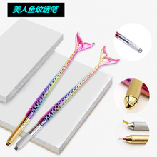 Top quality silver/gold 3D permanent makeup microblading pen manual eyebrow embroidery tattoo pen free 10pcs micro blade needles