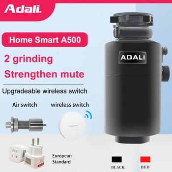 ADALI 500W Kitchen Food Garbage Processor High Horsepower Copper Motor Air Switch food waste disposer Grinder kitchen appliances 1