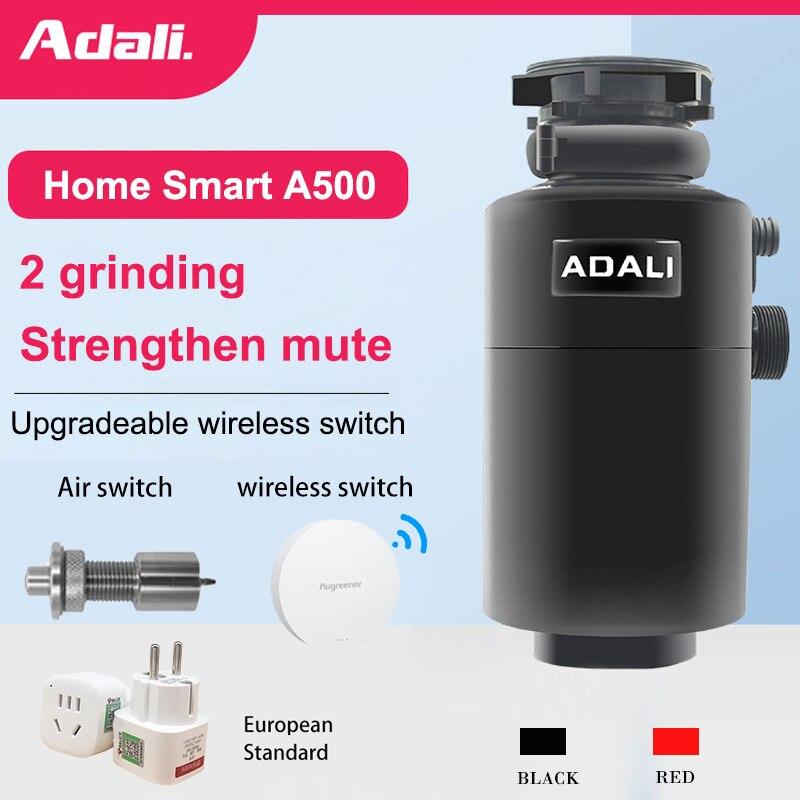 ADALI кухонный комбайн для мусора 500 Вт, высокомощный медный мотор, воздушный выключатель, измельчитель пищевых отходов, кухонные приборы