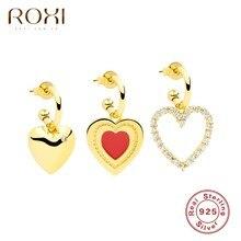 ROXI – boucles d'oreilles en forme de cœur pour femme, piercing, cadeau de mariage ou d'anniversaire, en argent Sterling 925, 925