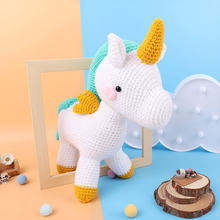 High Quality Knit Fabric Toy Unicorn Diy Knitting Toys Dinosaur Cotton Rope Plush Toy Sets Sale Nordic Style Birthday Gift Kit(China)