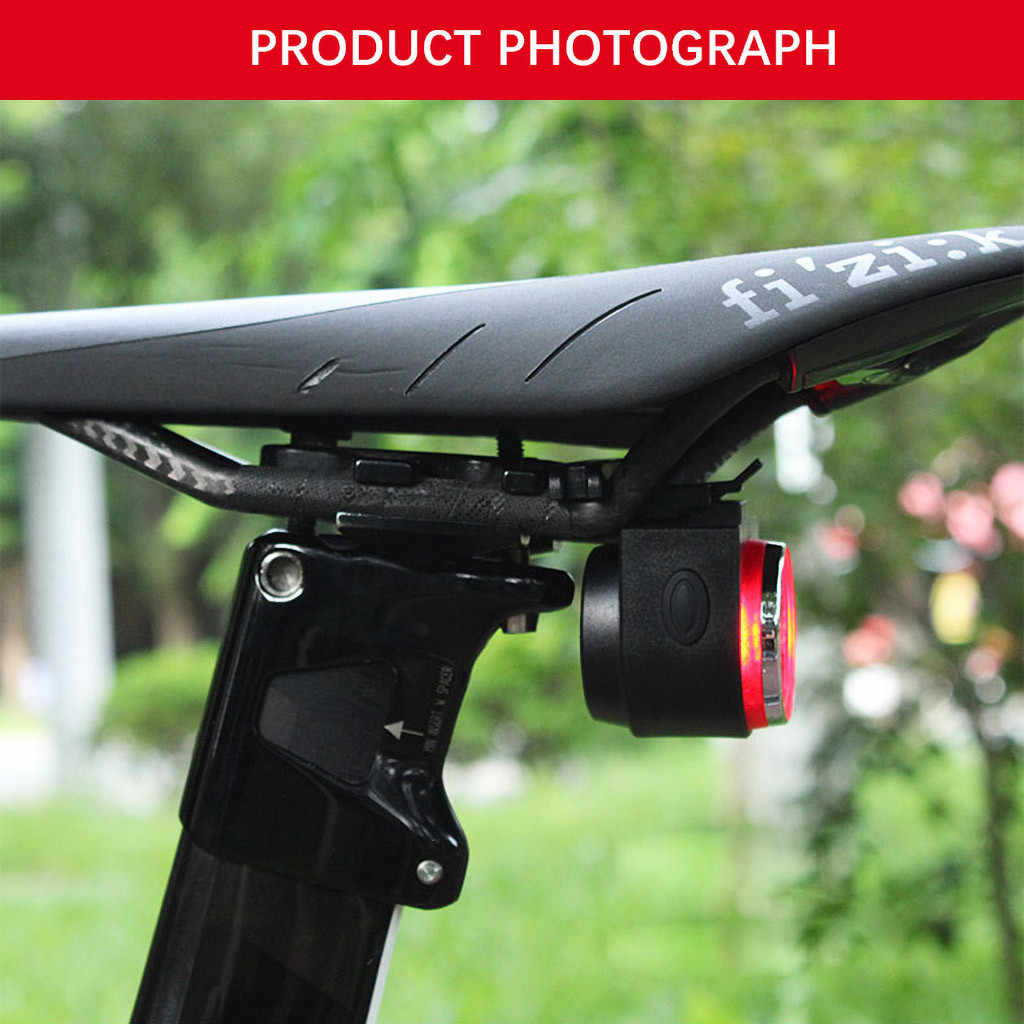 Smart Bike Tail Light Ultra Bright 115db Anti-Theft Motorcycle Bike Alarm