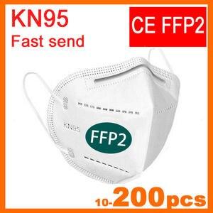 FFP2 Mask Dust-Mascarillas Safety KN95 Antibacterial 95%Filtration Tapabocas Soft
