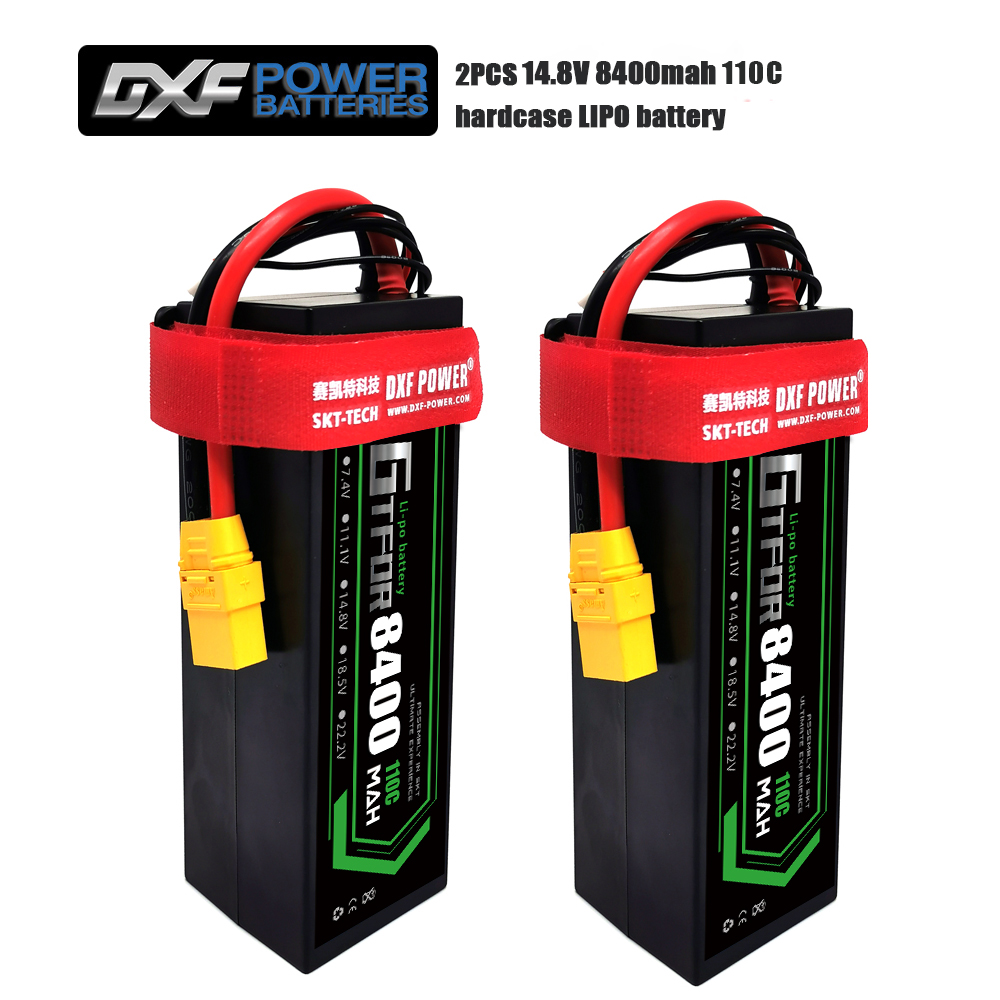 GTFDR RC Lipo Battery 14.8V 8400mAh 4S RC Battery Lipo 110C With Deans Plug For 1/8 1/10 Off-road Car RC Truck RC Truggy Buggy