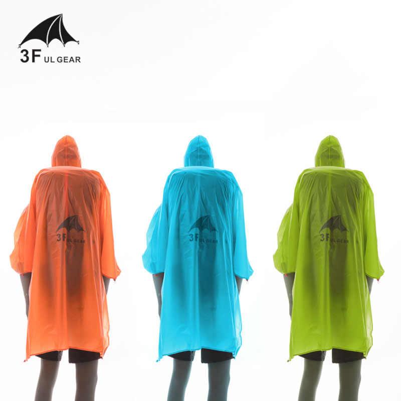 Capa de chuva multifuncional 3f ul gear, capa de chuva pequena tarpa 15d de nylon/pu com revestimento