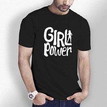 Triditya ht0281# сила девушки футболка мужская майка черная