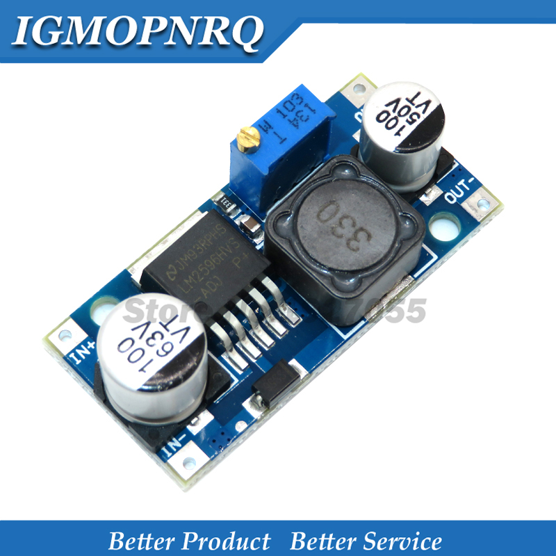 LM2596HVS LM2596 HV LM2596HV DC-DC Регулируемый понижающий модуль преобразователя 4,5-50 в до 3-35 в ограничитель