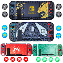 For Nintend Switch Accessories Monster Hunter Colorful PC Hard Case Colored Shell for Nintendo Switch Console Direct Docking