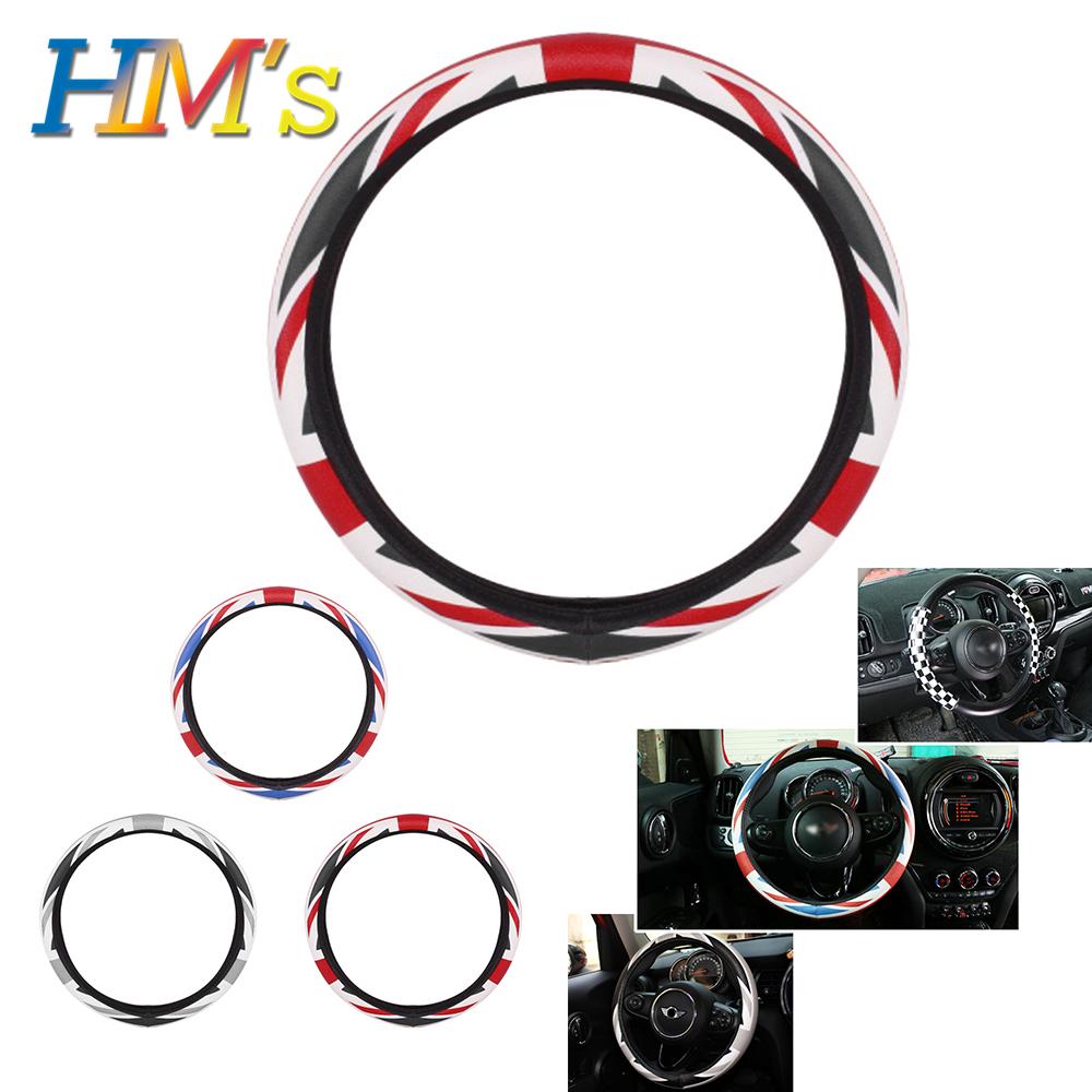 PU Leather Car Steering Wheel Cover Accessories for Mini Cooper R56 F56 F55 for Mini Countryman R60 F60 for Mini Clubman F54 R55