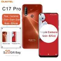 "OUKITEL C17 Pro 6,35 ""Android 9,0 4GB 64GB Smartphone 19:9 Dual 4G banda teléfono móvil huella dactilar identificación facial Octa Core 3900mAh"