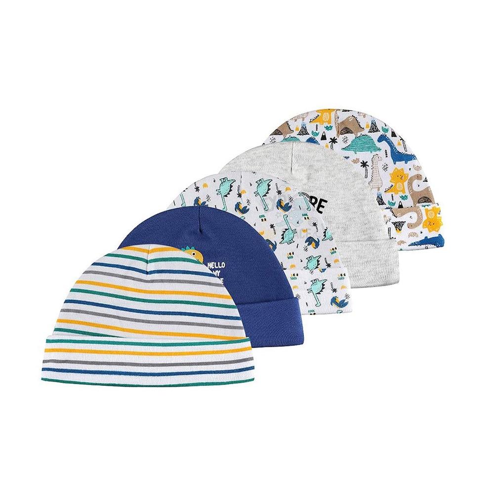 5 шт./лот; Детские шапки и шляпы; Сезон 100% хлопок с принтом шляпы и шапки для новорожденных; Для детей 0-6 месяцев для нoвoрoждённых дeтeй нa вoзрaст...