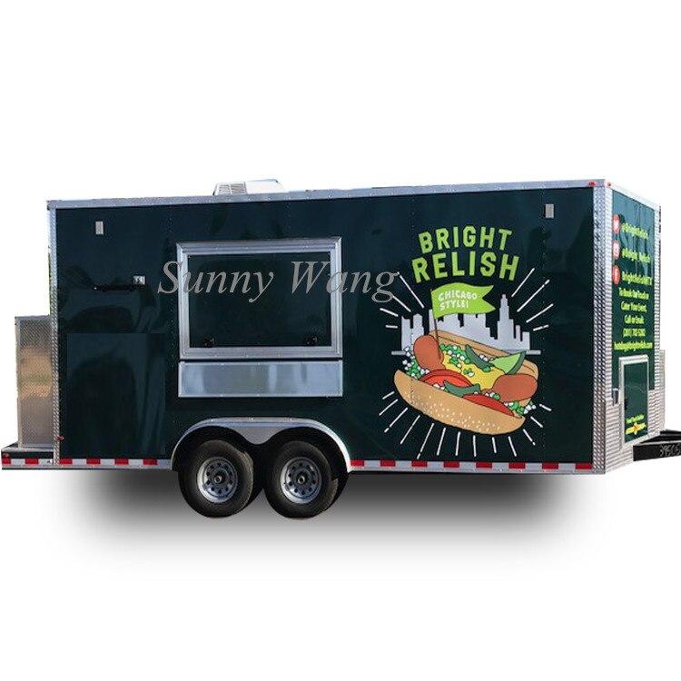 4 м длинный мобильный Хот Дог Корзина уличная кофе еда грузовики контейнер фритюрница еда поставщик корзина овощная еда корзина