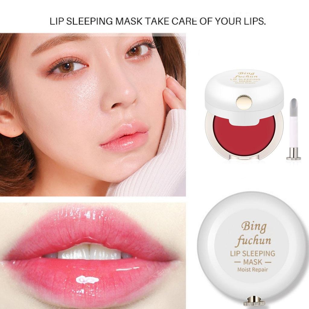 Lip Mask With Lip Brush To Repair Lip Color Reduce Lip Lines Moisturize Preve Brighten Lip Color Lip Mask