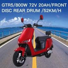 GTR5 – Moto électrique à grande vitesse pour hommes et femmes, 800W, écran LCD, véhicule