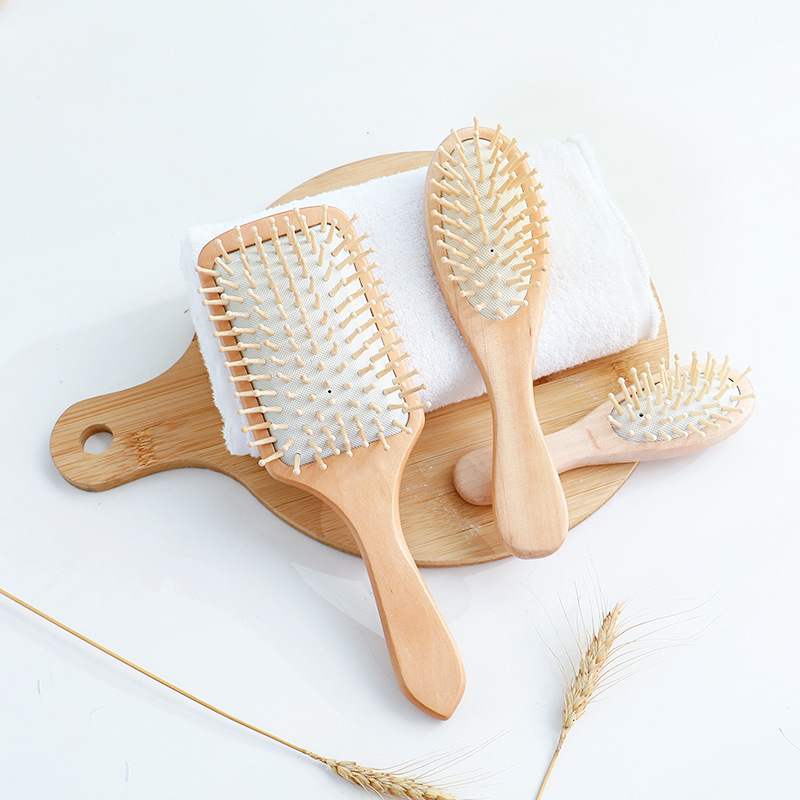 Air Bag Curly Hair Dressing Massage Comb Household Theaceae Anti-static Modeling Comb Da Ban Shu Head Massage Meridian Comb