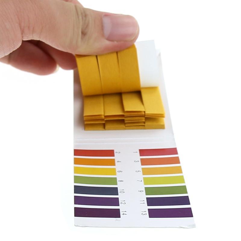 80 רצועות PH מקלוני בדיקה PH מטר PH בקר 1-14st מחוון לקמוס בוחן נייר Soilsting ערכת בדיקת רוק כלים רצועות