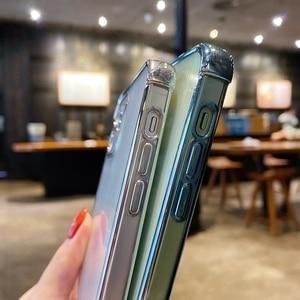 Image 5 - بالكهرباء شفافة ليزر حافظة هاتف آيفون 11 12 برو ماكس XS X XR ماكس ميني 7 8 Plus SE 2020 لينة الوفير الغطاء الخلفي