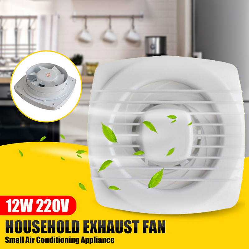 6'' Pull Rope Exhaust Fan Extractor Fan Ventilation Kitchen Bathroom Toilet Small Air Conditioning Appliance 220V 12W Low Noise